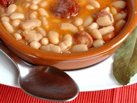 Fabada Asturiana white bean stew catering