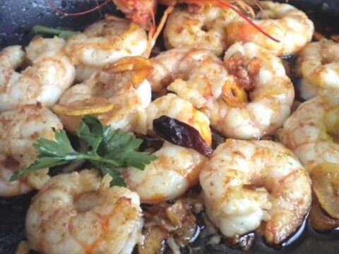 Garlic shrimp catering
