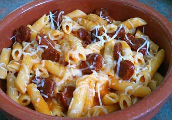 Macarrones con Chorizo