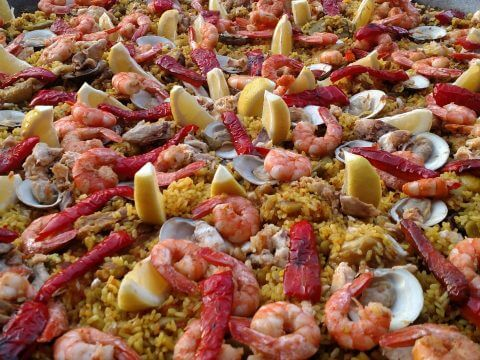 seafood paella catering