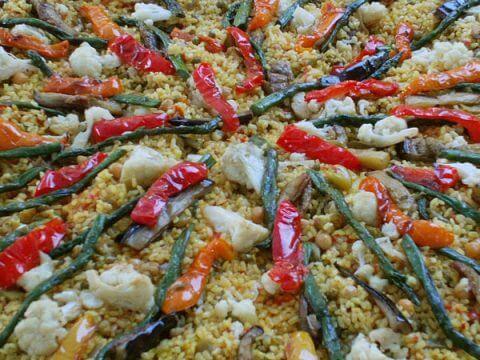 vegan paella catering
