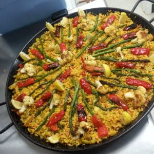 fresh colorful vegan paella