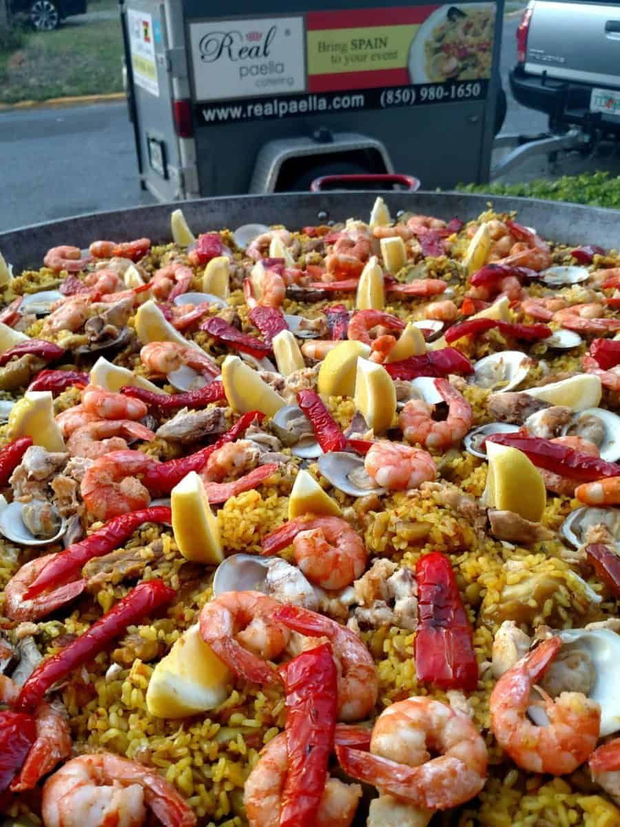 Real Paella Catering at an event