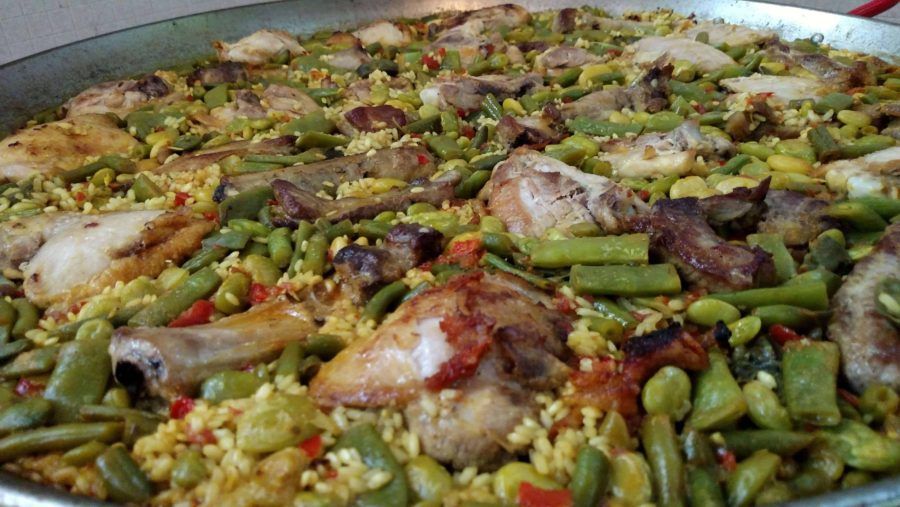 Close up of cooking Paella by Real Paella Catering
